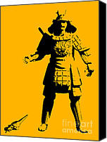 Ancient Digital Art Canvas Prints - Samurai fail Canvas Print by Pixel Chimp