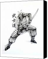 Samurai Drawings Canvas Prints and Samurai Drawings Canvas Art for ...