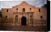 San Antonio Canvas Prints - San Antonio Alamo at Sunrise Canvas Print by Samuel Kessler