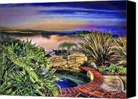 Clemente Digital Art Canvas Prints - San Clemente Estate Canvas Print by Kathy Tarochione