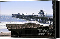 Clemente Photo Canvas Prints - San Clemente Pier California Canvas Print by Clayton Bruster