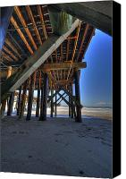 San Clemente Canvas Prints - San Clemente Pier Canvas Print by Kelly Wade