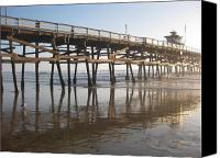 Clemente Canvas Prints - San Clemente Pier Canvas Print by Lynn Watters