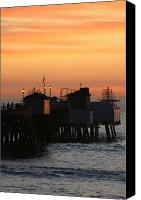 San Clemente Canvas Prints - San Clemente Pier Sunset Canvas Print by Brad Scott