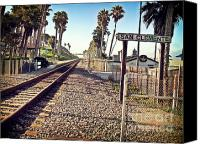 San Clemente Ca Canvas Prints - San Clemente Train Tracks Canvas Print by Traci Lehman