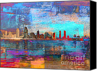 San Diego Mixed Media Canvas Prints - San Diego Canvas Print by Irina Hays