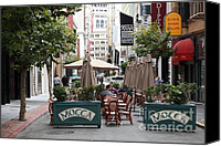 Chairs Canvas Prints - San Francisco - Maiden Lane - Outdoor Lunch at Mocca Cafe - 5D17932 Canvas Print by Wingsdomain Art and Photography