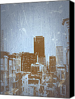 San Francisco Digital Art Canvas Prints - San Francisco 2 Canvas Print by Irina  March