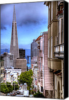 Painted Ladies Canvas Prints - San Francisco Canvas Print by Anthony Citro