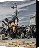 Performer Canvas Prints - San Francisco Breakdancer Canvas Print by Rich Beer