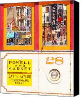 Powell Street Digital Art Canvas Prints - San Francisco Cablecar 28 . Carol Doda Condor North Beach Canvas Print by Wingsdomain Art and Photography