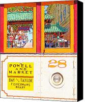 Powell Street Digital Art Canvas Prints - San Francisco Cablecar 28 . Chinatown Gate Canvas Print by Wingsdomain Art and Photography