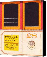 Powell Street Digital Art Canvas Prints - San Francisco Cablecar 28 Canvas Print by Wingsdomain Art and Photography