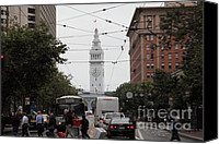 Time Piece Canvas Prints - San Francisco Ferry Building at End of Market Street - 5D17865 Canvas Print by Wingsdomain Art and Photography