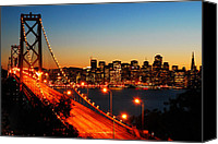Cities Pyrography Canvas Prints - San Francisco from Yuerba Buena Island Canvas Print by James Kirkikis