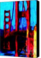 Headlands Canvas Prints - San Francisco Golden Gate Bridge Canvas Print by Wingsdomain Art and Photography