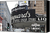 Crosswalk Canvas Prints - San Francisco Marquards Little Cigar Store Powell and OFarrell Streets - 5D17954 Canvas Print by Wingsdomain Art and Photography