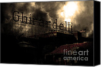 Factories Canvas Prints - San Francisco Nights At The Old Chocolate Factory . 7D13978 Canvas Print by Wingsdomain Art and Photography