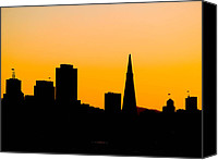 Frisco Canvas Prints - San Francisco Silhouette Canvas Print by Bill Gallagher