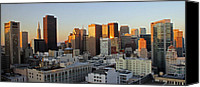 Frisco Canvas Prints - San Francisco Sunset Canvas Print by Cedric Darrigrand
