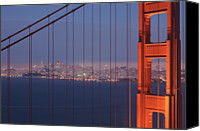 Golden Gate Canvas Prints - San Francisco Visible Through The Golden Gate Brid Canvas Print by Stephan Hoerold