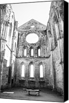 Ruin Canvas Prints - San Galgano Abbey Canvas Print by Ralf Kaiser