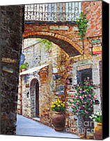 Diane Hewitt Canvas Prints - San Gimignono I  Canvas Print by Diane Hewitt