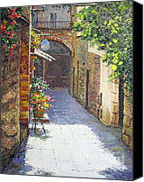 Diane Hewitt Canvas Prints - San Gimignono II Canvas Print by Diane Hewitt