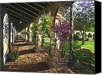 Garden Flowers Canvas Prints - San Juan Capistrano Canvas Print by Lisa Reinhardt