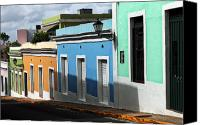 Puerto Rico Photo Canvas Prints - San Juan Colors Canvas Print by John Rizzuto