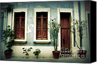 Old San Juan Canvas Prints - San Juan Living 3 Canvas Print by Perry Webster