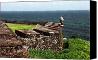 Puerto Rico Photo Canvas Prints - San Juan Lookout Canvas Print by John Rizzuto