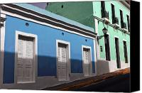 Architecture Photo Canvas Prints - San Juan Street Colors Canvas Print by John Rizzuto