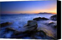 Waves Canvas Prints - San Juan sunset Canvas Print by Mike  Dawson