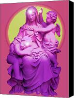 Queen Of Heaven Canvas Prints - Sancta Maria No. 01 Canvas Print by Ramon Labusch