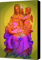 Queen Of Heaven Canvas Prints - Sancta Maria No. 02 Canvas Print by Ramon Labusch