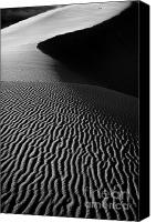 Coral Pink Sand Dunes Canvas Prints - Sand creation - black and white Canvas Print by Hideaki Sakurai