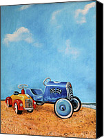 Blue Canvas Prints - Sand Dune Racers Canvas Print by Enzie Shahmiri