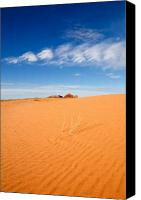 Sky Pyrography Canvas Prints - Sand Dunes in San Rafael Desert Canvas Print by Utah Images