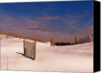 Sand Fences Canvas Prints - Sand Dunes Canvas Print by Jim Sweida
