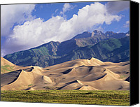 Sangre De Cristo Mountains Canvas Prints - Sand Dunes With Sangre De Cristo Canvas Print by Tim Fitzharris