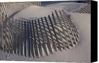Sand Fences Canvas Prints - Sand Fence On The Beach In Destin Canvas Print by Marc Moritsch