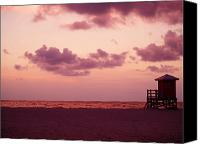 Beach Prints Canvas Prints - Sand Key Sunset Canvas Print by Milton Brugada
