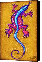 Lizard Canvas Prints - Sand Lizard Canvas Print by David Kyte