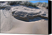 Indiana Autumn Canvas Prints - Sand Ripples 4 Canvas Print by Cedric Hampton