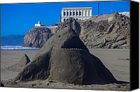 Sandy Beach Canvas Prints - Sand shark at Cliff House Canvas Print by Garry Gay