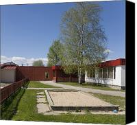 School Yard Canvas Prints - Sandbox At Primary School Canvas Print by Architect Priit Matsi/ Photo Jaak Nilson