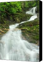 Blandford Canvas Prints - Sanderson Brook Falls Westfield River Canvas Print by John Burk