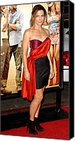 Satin Dress Canvas Prints - Sandra Bullock Wearing A Lanvin Dress Canvas Print by Everett