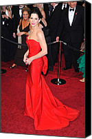 Academy Awards Oscars Canvas Prints - Sandra Bullock Wearing Vera Wang Dress Canvas Print by Everett